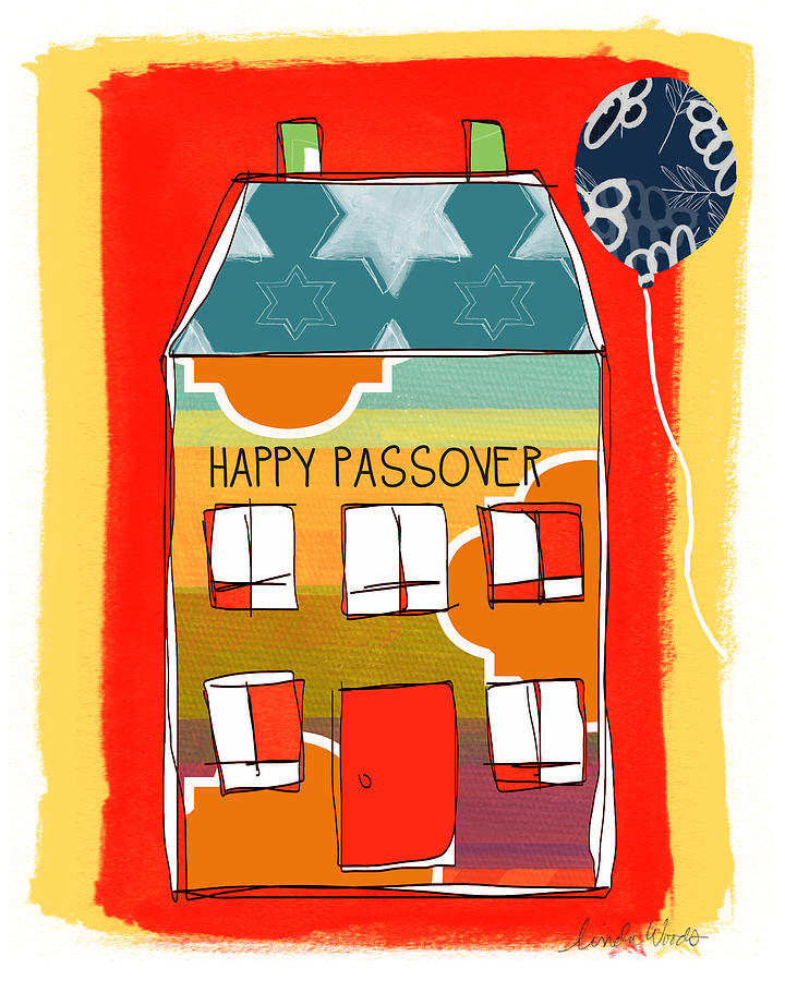 Passover Painting - Passover House by Linda Woods