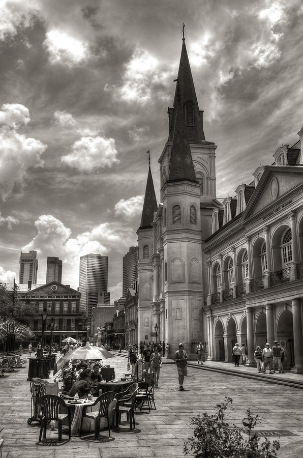 New Orleans Photograph - Past Present Future In Black And White by Greg and Chrystal Mimbs