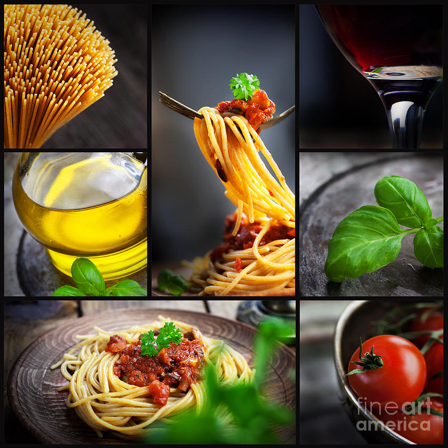 Pasta Collage Photograph