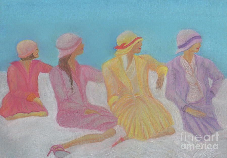 Pastel Hats By Jrr Painting  - Pastel Hats By Jrr Fine Art Print