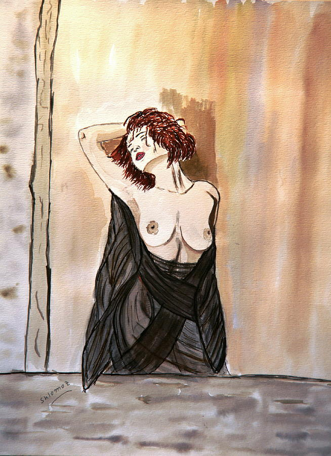 Nude Framed Prints Painting - Pastel Passion by Shlomo Zangilevitch