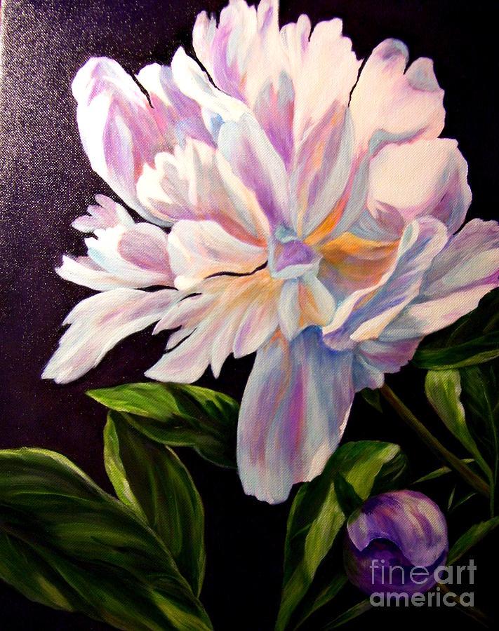 Pastel Peony Painting