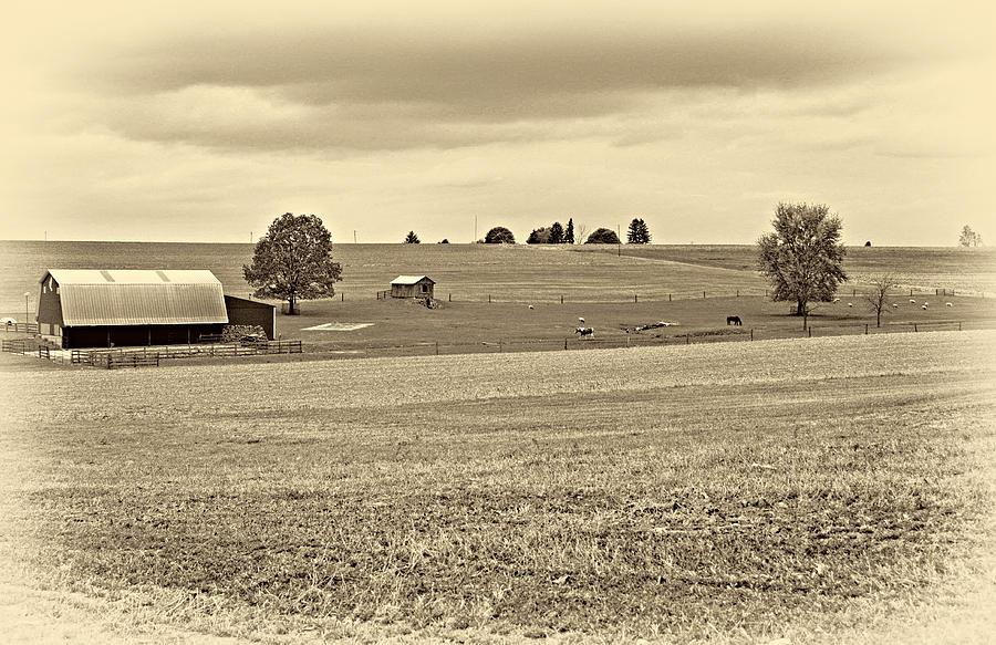 Pennsylvania Photograph - Pastoral Pennsylvania Sepia by Steve Harrington