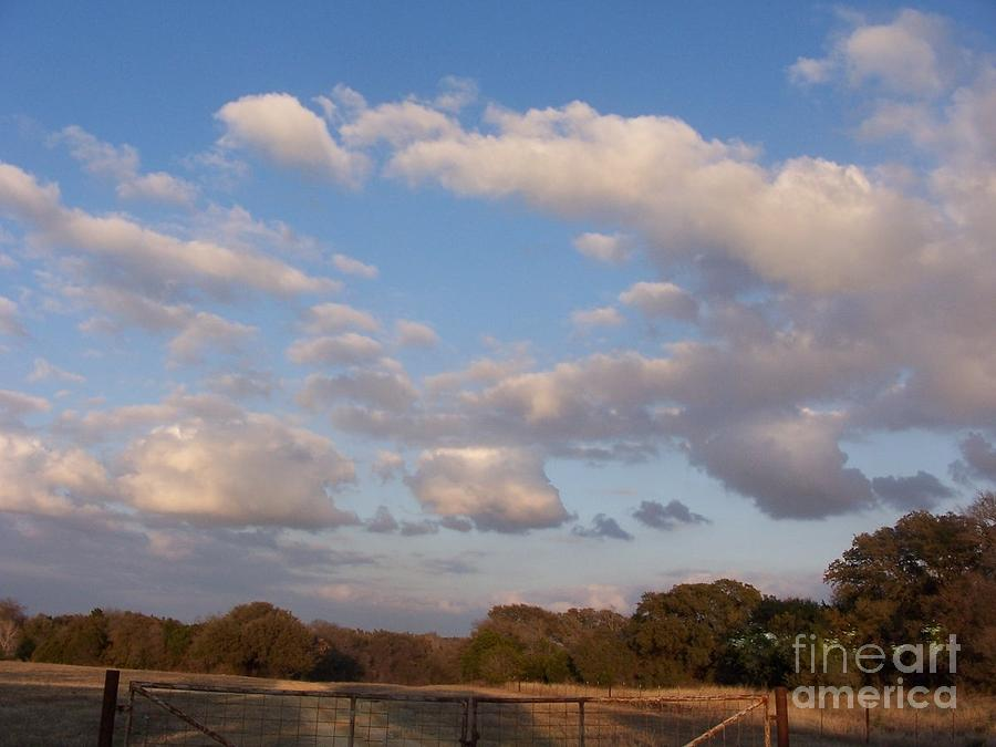 Pasture Clouds Photograph