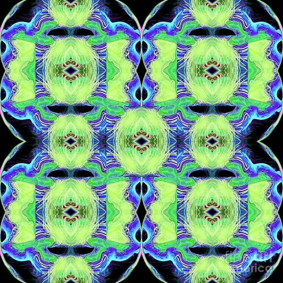 Patchwork Featherbed Quilt Digital Art