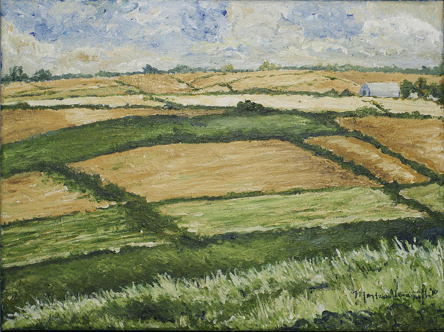 Patchwork Fields Painting