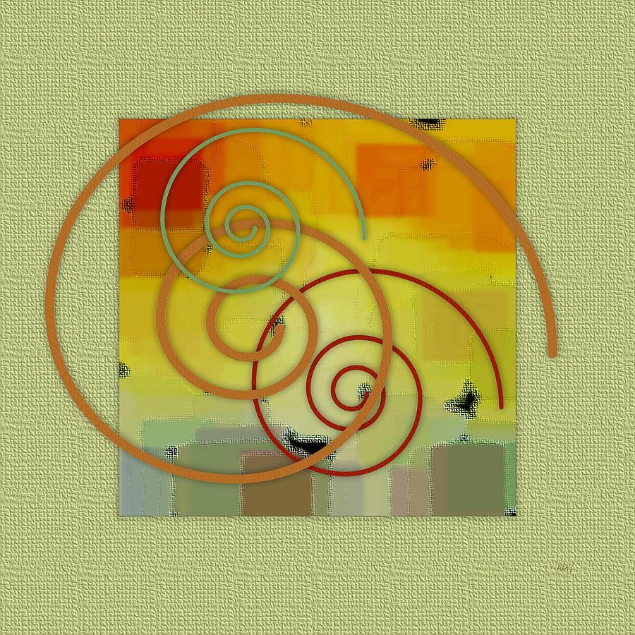 Abstract Digital Art - Patchwork II by Ben and Raisa Gertsberg