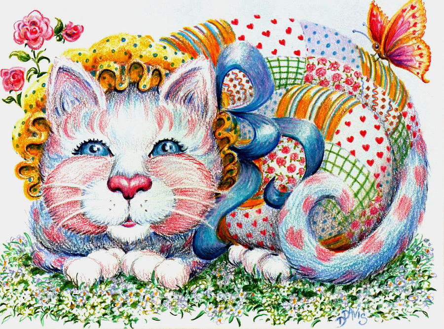 Patchwork Patty Catty is a drawing by Dee Davis which was uploaded on ...