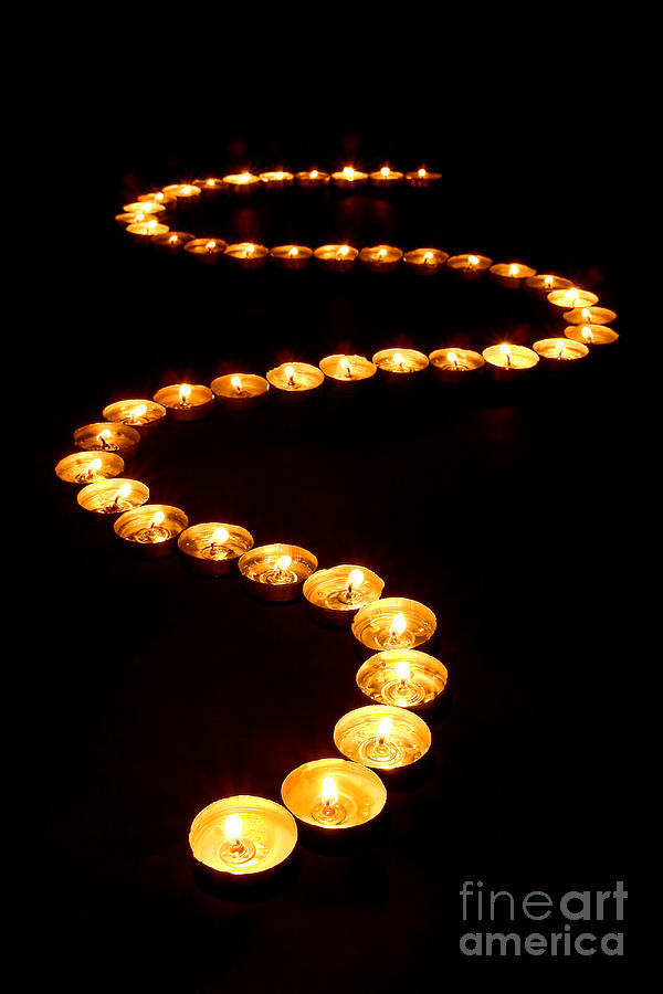 Candles Photograph - Path Of Light by Olivier Le Queinec