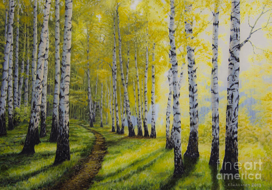 Path To Autumn Painting  - Path To Autumn Fine Art Print