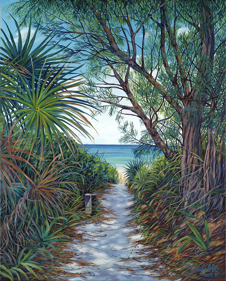 Path To Serenity Painting  - Path To Serenity Fine Art Print