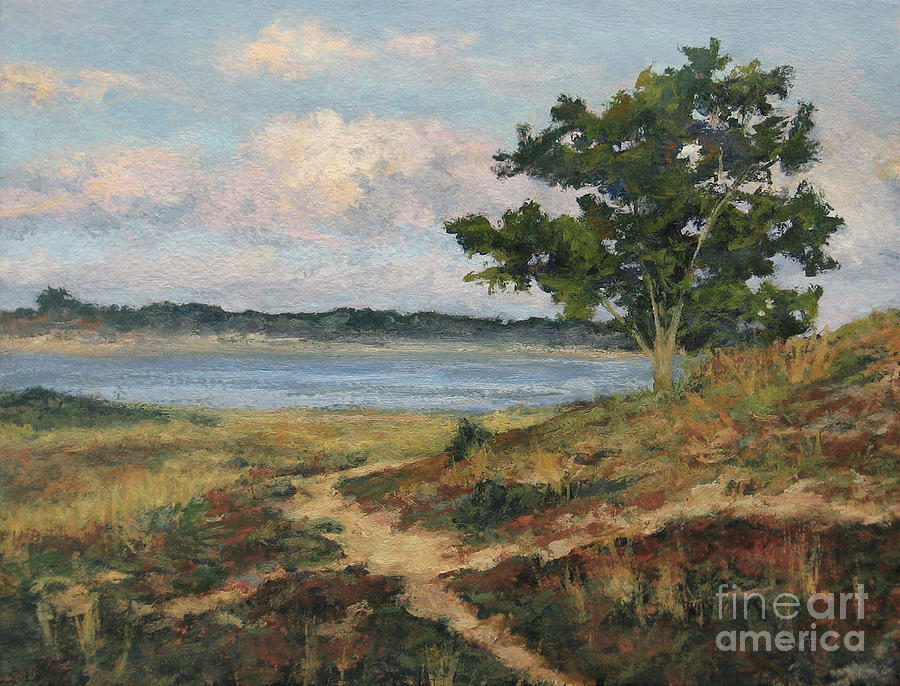 Path To The Harbor Painting  - Path To The Harbor Fine Art Print