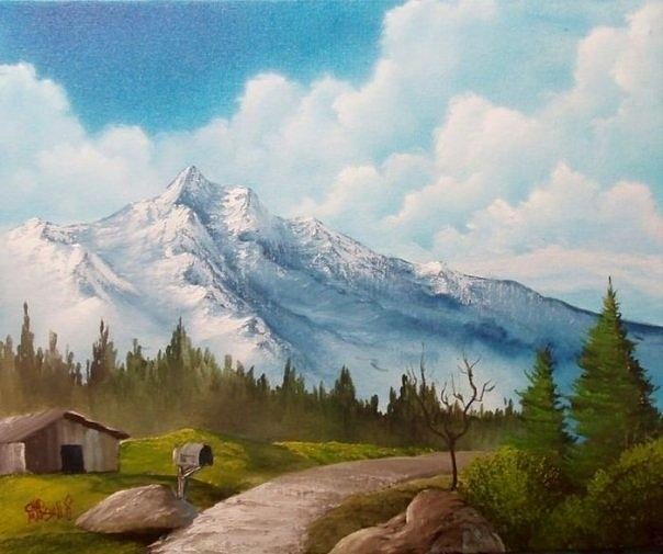 Mountain Painting - Pathway By The Mountain by Chad Marshall