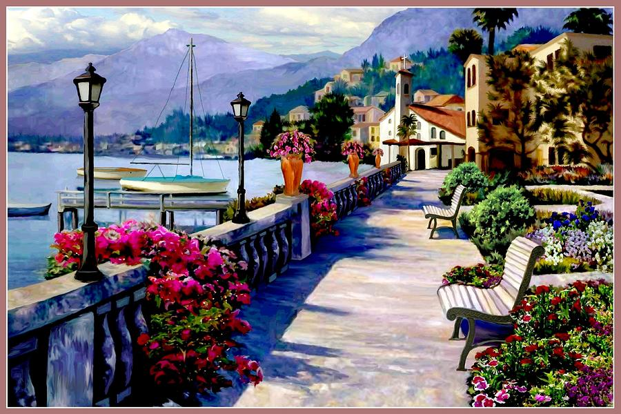 Seaside Pathway Digital Art