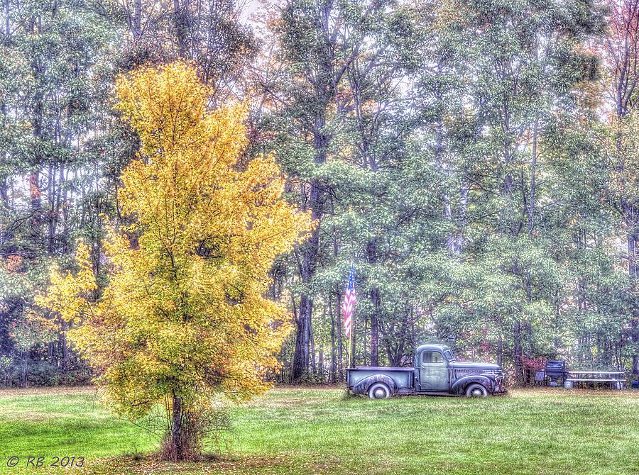 Patriotic Autumn Photograph