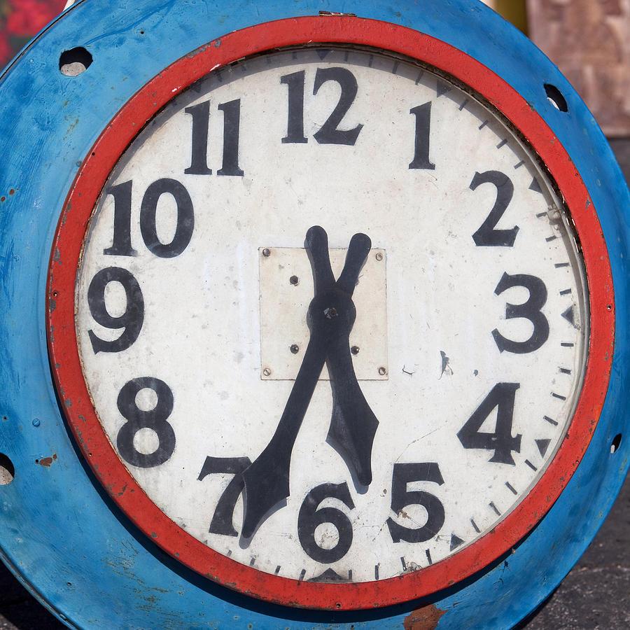 Patriotic Clock Photograph