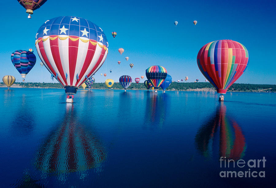 Patriotic Hot Air Balloon Photograph  - Patriotic Hot Air Balloon Fine Art Print