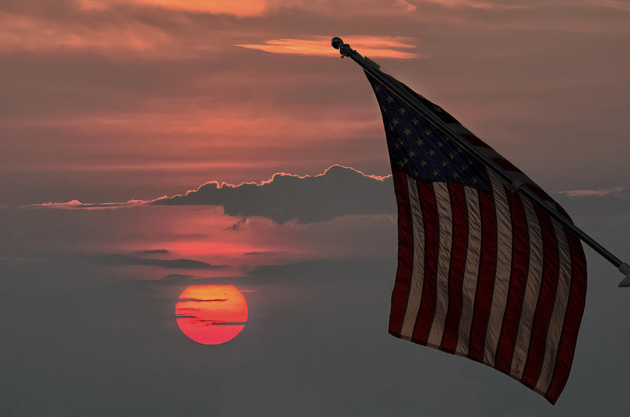 Patriotic Sunset Photograph