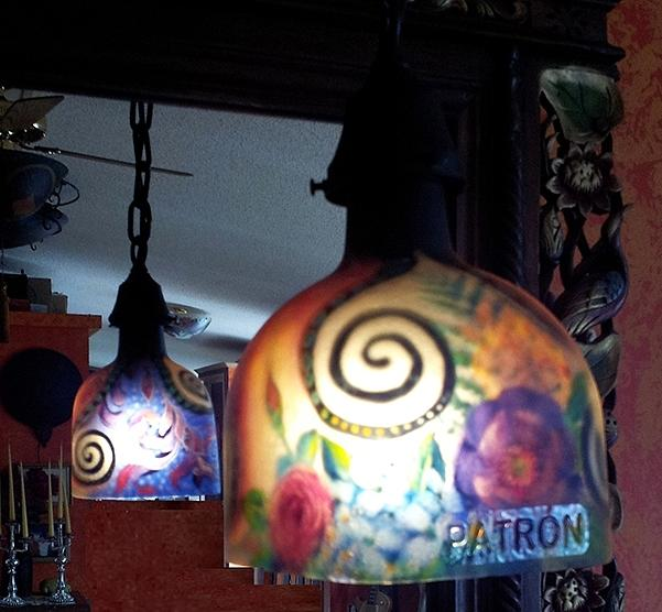 Patron Finalist Pendant Lamp Glass Art