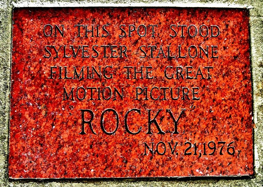 Pats Steaks - Rocky Plaque Photograph