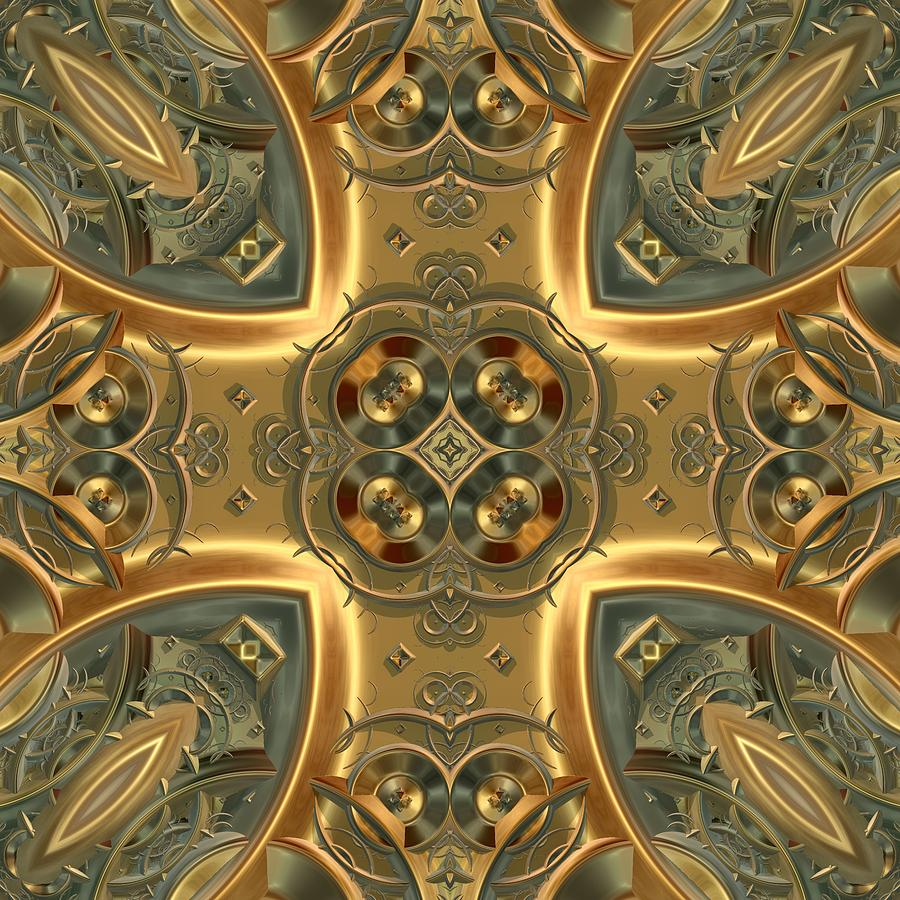 Patterns 1711-sw550 Digital Art  - Patterns 1711-sw550 Fine Art Print
