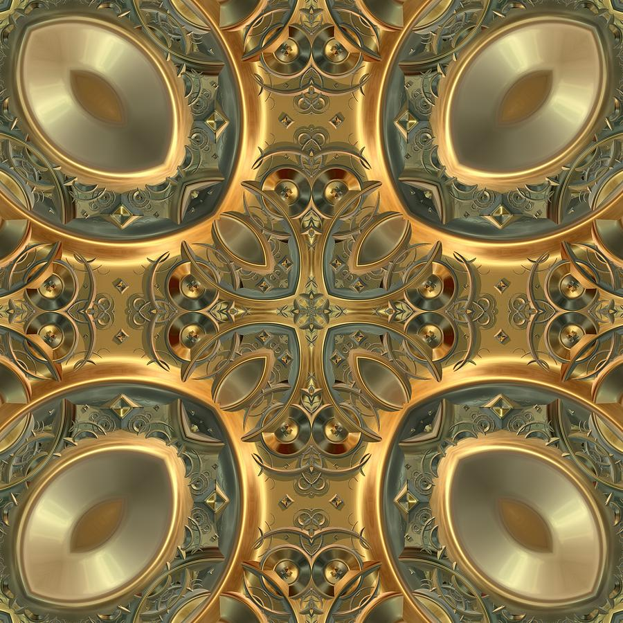 Patterns 1711-sw551 Digital Art  - Patterns 1711-sw551 Fine Art Print