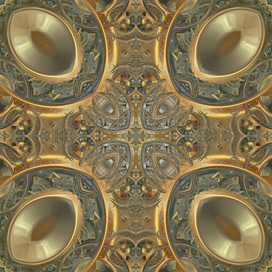 Patterns 1711-sw551p Digital Art  - Patterns 1711-sw551p Fine Art Print