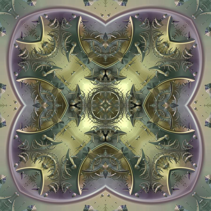 Patterns 1711-sw557 Digital Art  - Patterns 1711-sw557 Fine Art Print