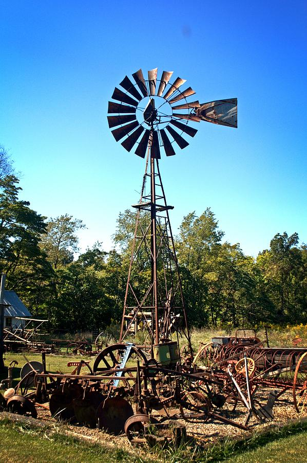 Patterson Windmill Photograph  - Patterson Windmill Fine Art Print
