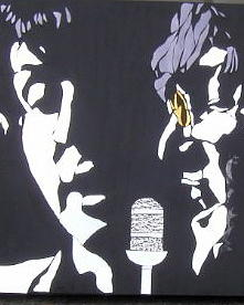 Beatles Glass Art - Paul And John by Tom Runkle