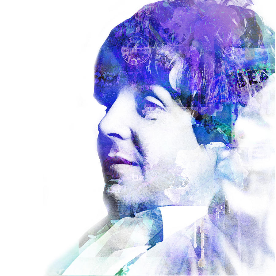 Paul Mccartney  Digital Art  - Paul Mccartney  Fine Art Print