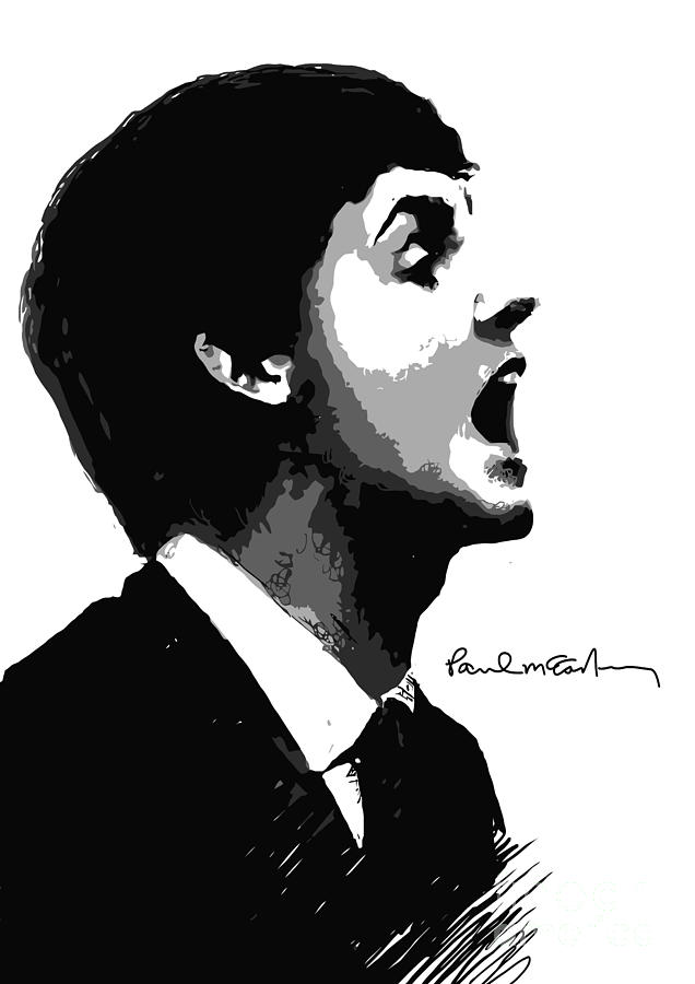 Paul Mccartney No.01 Digital Art  - Paul Mccartney No.01 Fine Art Print
