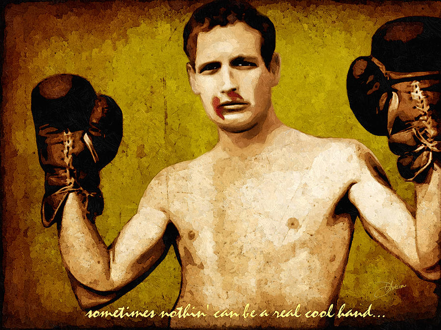 Paul Newman Cool Hand Luke  Digital Art  - Paul Newman Cool Hand Luke  Fine Art Print