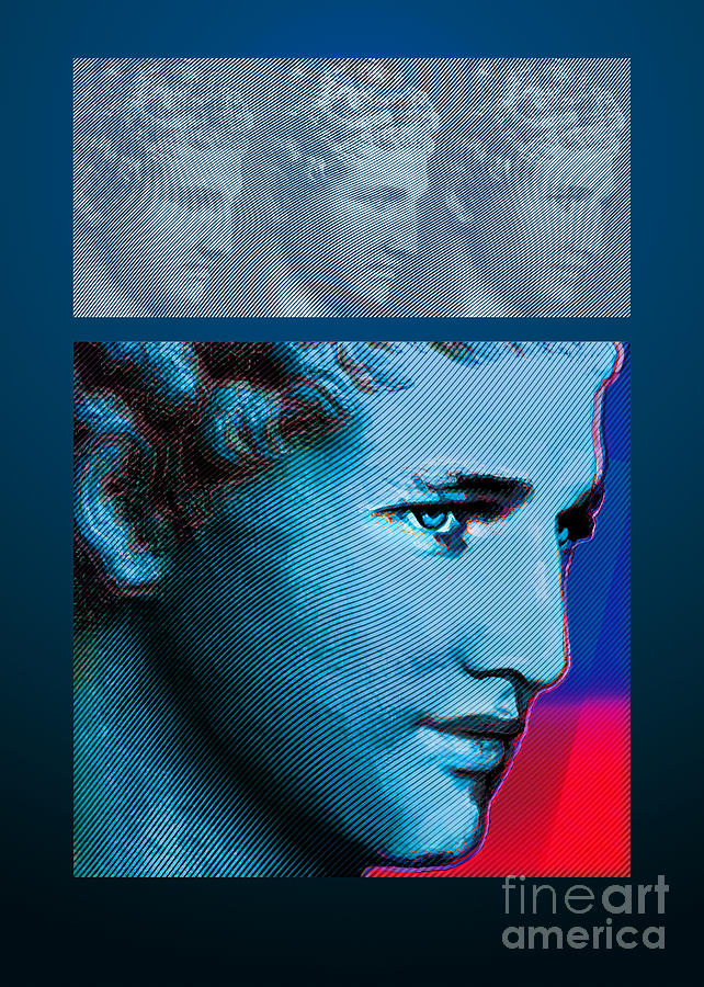 Paul Newman Interprets Praxiteles Hermes  Digital Art  - Paul Newman Interprets Praxiteles Hermes  Fine Art Print