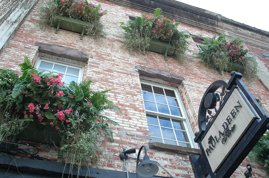 Paula Deen Savannah Restaurant Photograph - Paula Deen Savannah Restaurant Flower Boxes by Kathy Fornal