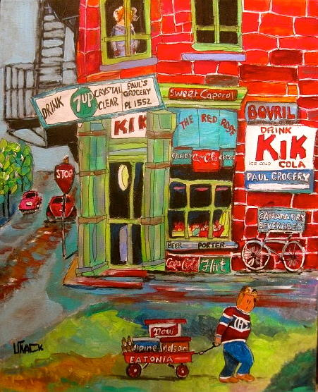 Paul's Grocery Painting - Pauls Grocery Montreal by Michael Litvack