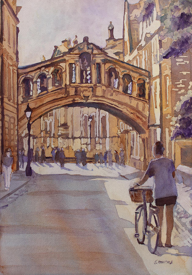Bridge Of Sighs Painting - Pausing Before The Bridge by Jenny Armitage
