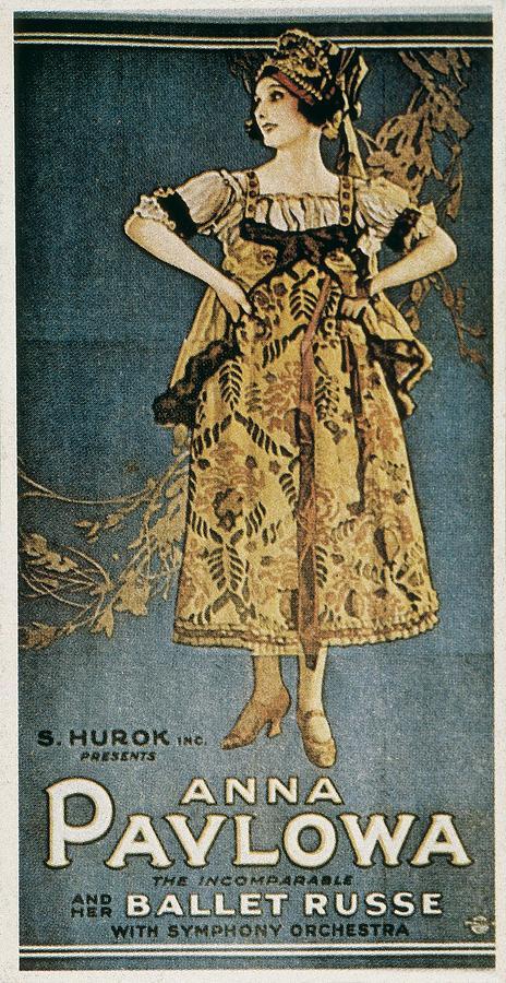Pavlova, Anna 1882-1931. Poster Photograph