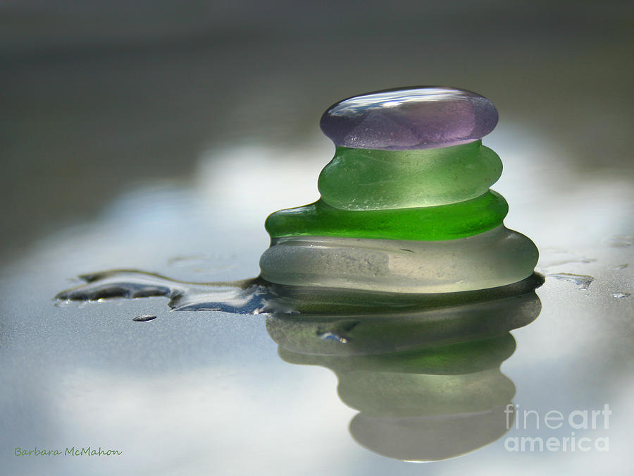 Seaglass Photograph - Peace by Barbara McMahon