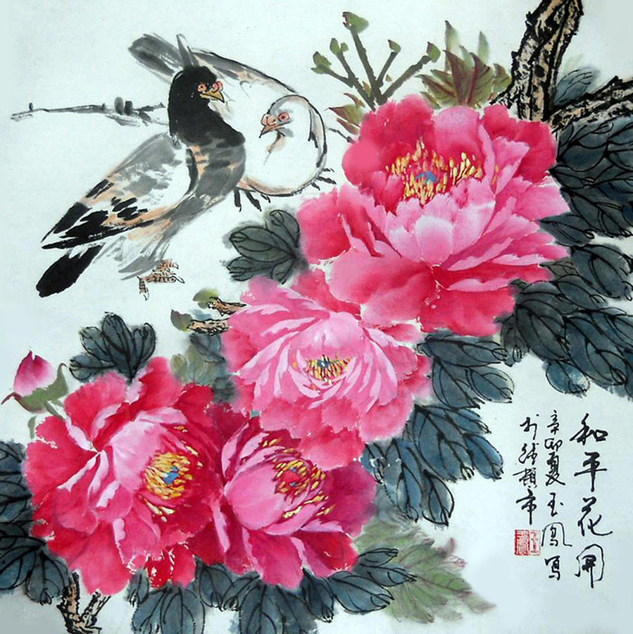 Peace Flowers Painting