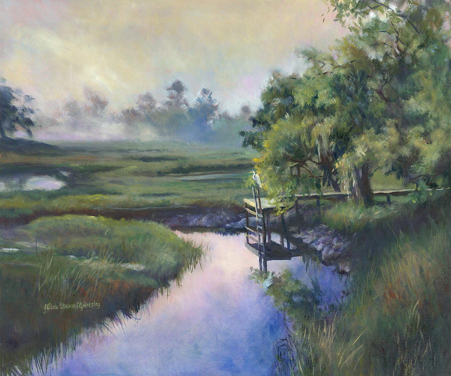 Charleston Painting - Peace Like A River by Alice Grimsley