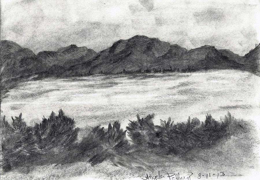 Lake Drawing - Peace Of Mind by Angela Pelfrey