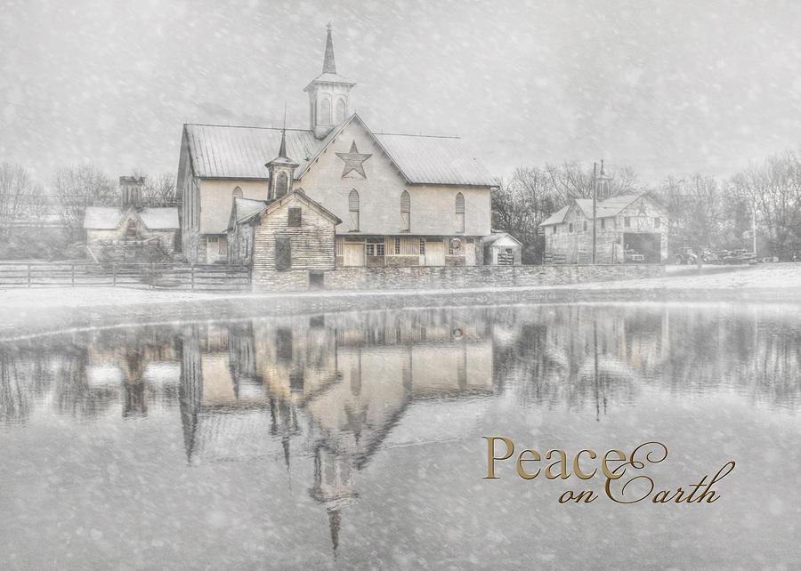 The Star Barn Photograph - Peace On Earth by Lori Deiter