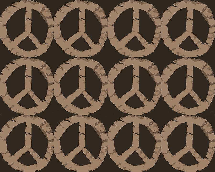Peace Symbol Collage Photograph  - Peace Symbol Collage Fine Art Print