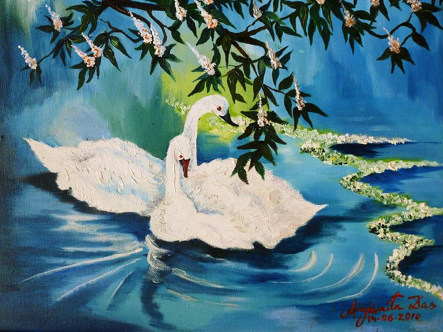 Life Painting - Peaceful Life by Anjanita Das