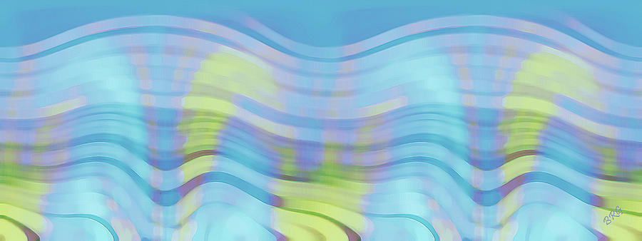 Peaceful Waves Digital Art