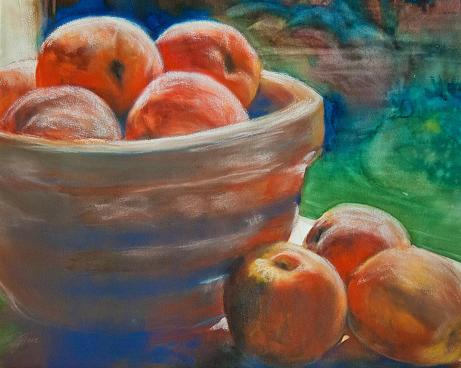 Peaches Painting - Peach Fuzz by Jani Freimann