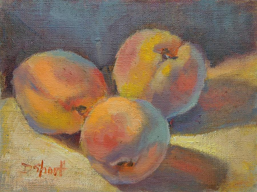 Peach Times Three Painting  - Peach Times Three Fine Art Print