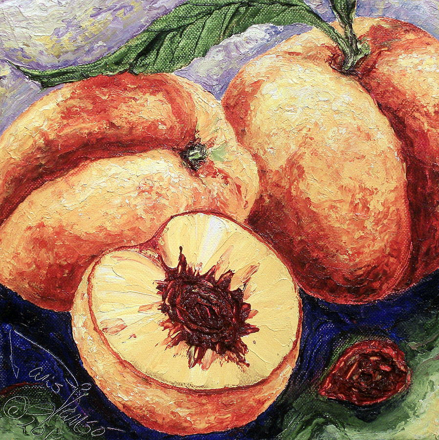 Peaches II Painting  - Peaches II Fine Art Print