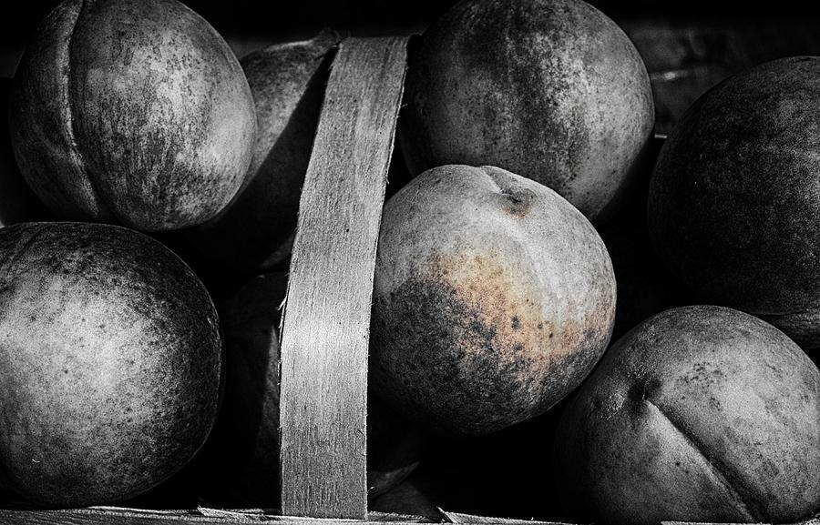Peaches In A Basket Photograph